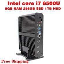 Mini PC Core i7 6500U Max 3.1GHz 8GB RAM 256GB SSD 1TB HDD Micro PC HTPC Intel HD Graphics 520 TV BOX usb 3.0