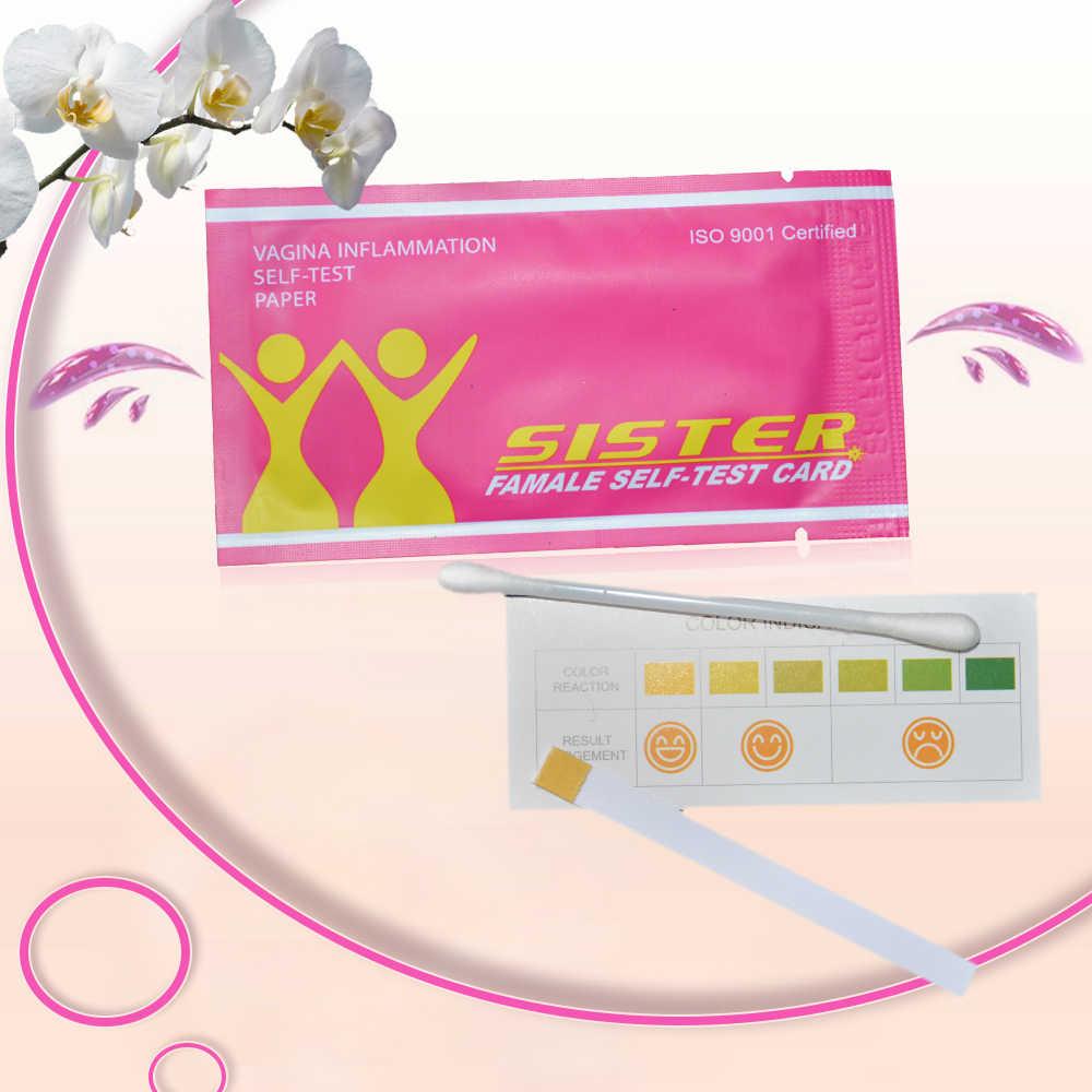 50 Pcs בריאות נשי עצמי מבחן כרטיס סיטונאי גינקולוגיות דלקת עצמי מבחן נייר PH בנרתיק נשי כרטיסי בדיקות