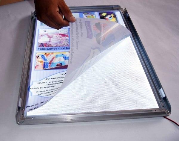 Алюминиевая СВЕТОДИОДНАЯ световая коробка рекламная панель дисплея