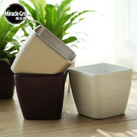 Vierkante Self Gieter * Plastic bloempot planter home tuin * Plant Pot Bloempot