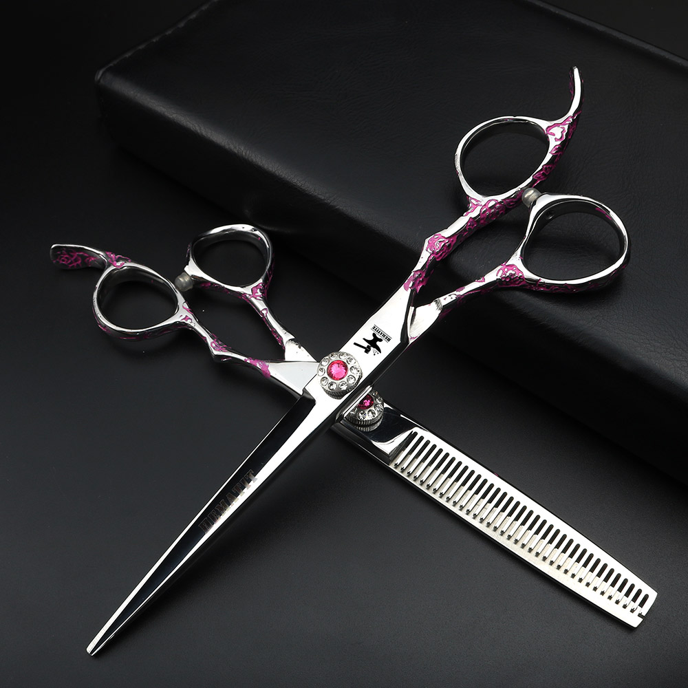 6.5 inch hairdressing scissors for professional hairdressing scissors for hairdressers,Rose pattern scissors