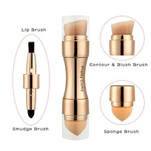 Multi-functional Professional 4 in 1 Makeup Brushes Foundation Eyebrow Eyeliner Blush Powder Cosmetic Concealer Brushes недорого