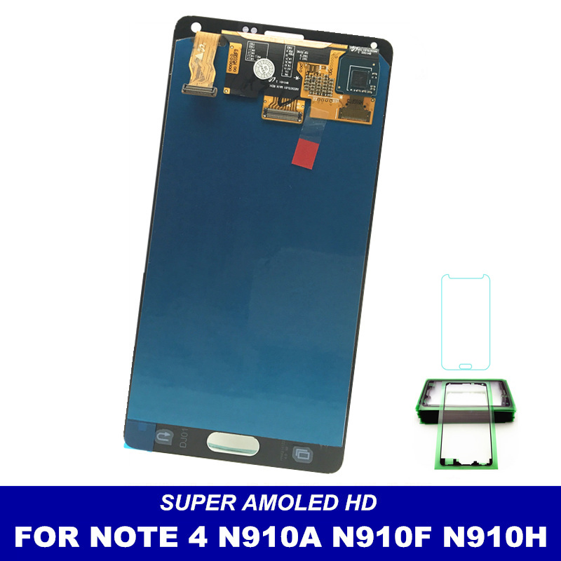 imágenes para Para Samsung Galaxy Nota 4 N9100 Exhibición Pantalla LCD Reemplazo Asamblea Del Digitizador de Gris/Blanco Color Nota4 LCD Envío etiqueta