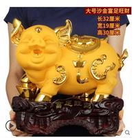 Новоселье Фортуна песок золото [богатство] золотая свинья большая открытая Фортуна Золотое животное приносит бриллиантовую скульптуру дом