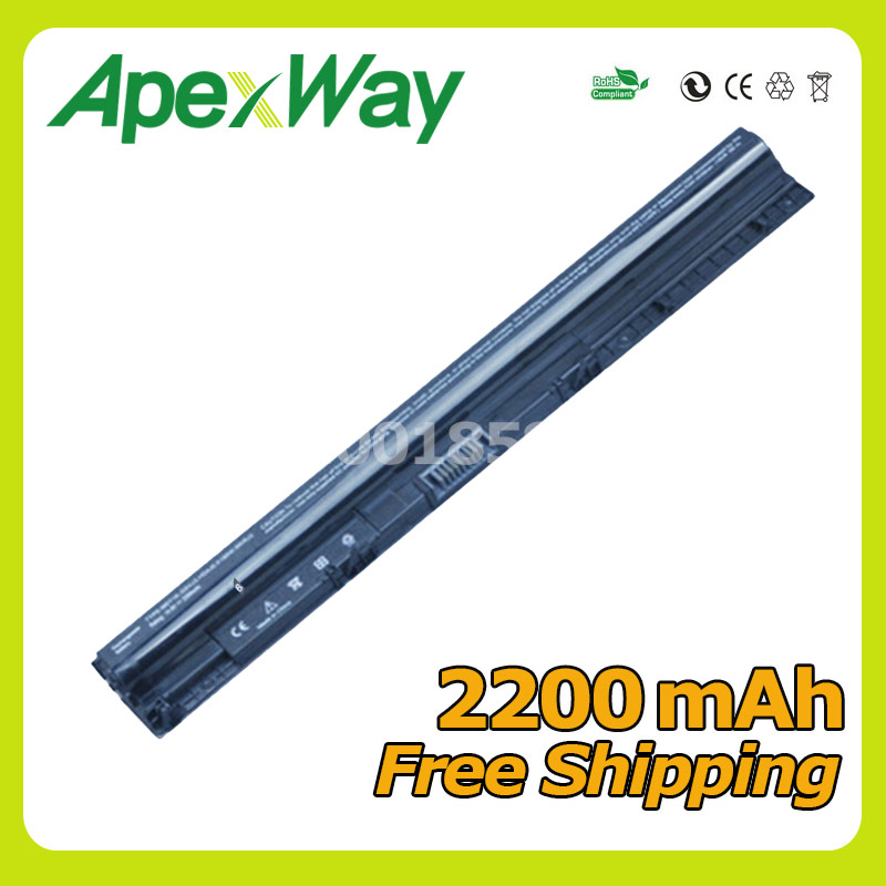 Apexway 2200mAh 4 cells battery for Dell Inspiron 3451 3458 3551 3558 5455 5458 5555 series K185W M5Y1K WKRJ2 GXVJ3 HD4J0 4cell 14 4v 2200mah laptop battery for dell inspiron 3451 3458 3551 3558 5455 5555 series k185w hd4j0 m5y1k wkrj2 gxvj3