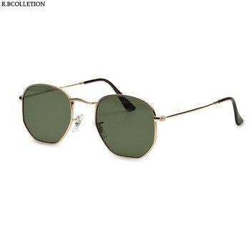 2018 Hexagonal Da Marca do Desenhador Óculos De Sol Das Mulheres Dos Homens Do Vintage Retro loculos óculos de sol de Condução Espelho óculos de Sol Óculos de Lente Plana de Metal