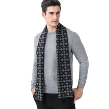 New Classic Business Recreation Chequered Mens Scarf in Autumn and Winter Europe America