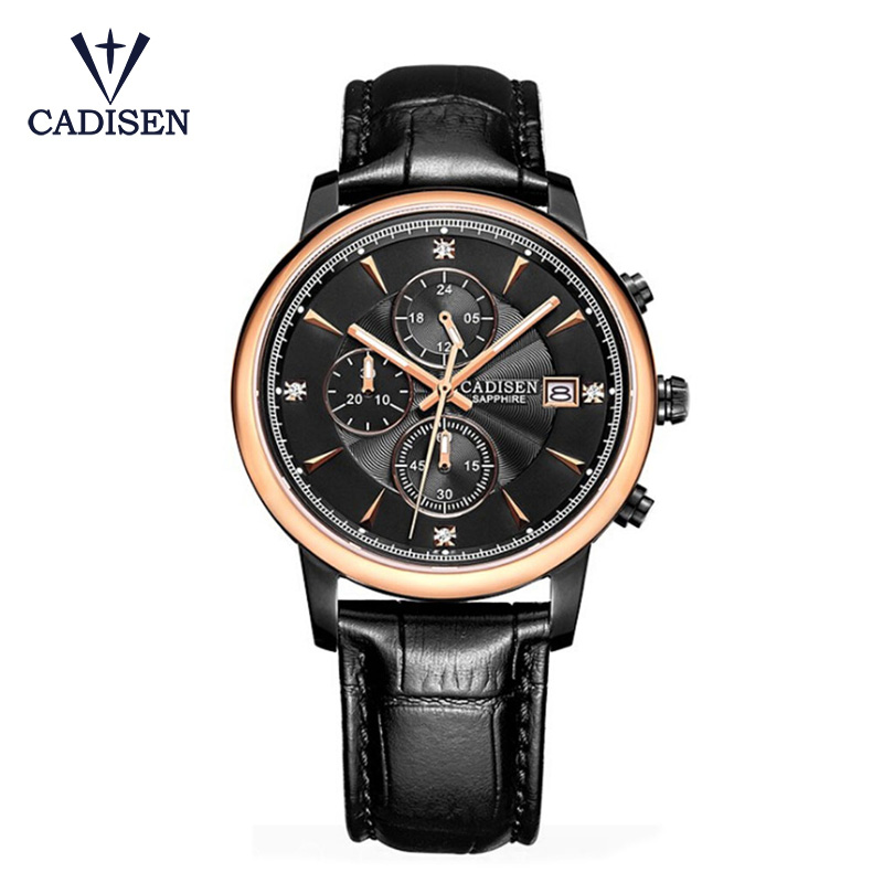 CADISEN Men's Sports Quartz Watch Men Top Brand Luxury Designer Watch Man Quartz Gold Clock Male Fashion Relogio Masculino Date new listing men watch luxury brand watches quartz clock fashion leather belts watch cheap sports wristwatch relogio male gift