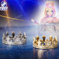 Costume Saber Crown Ring For Wome 925 Silver Jewelry Fate/Grand Order FGO Christmas New Year Gift for Girlfriend Daughter Girl