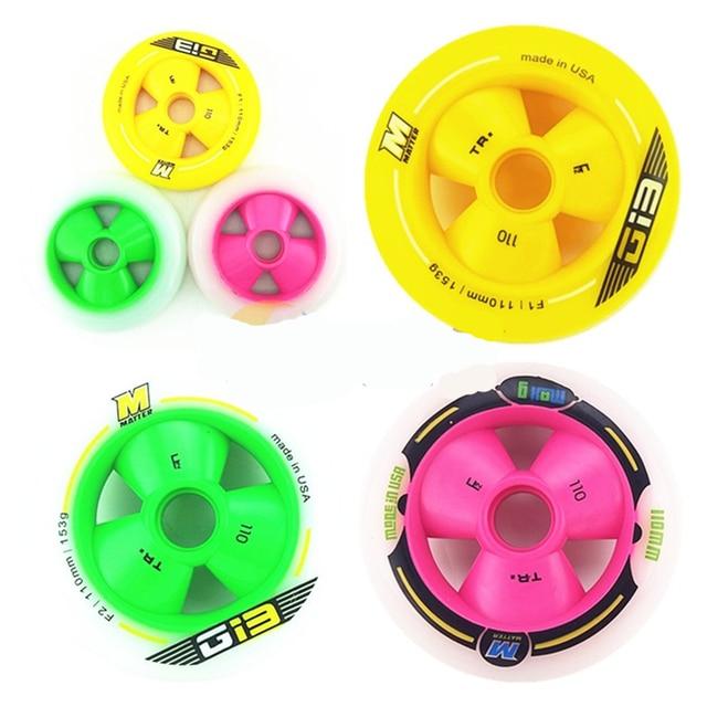 MATTER G13 F1 roue de patinage de vitesse rose vert jaune + cadre de patins à roues alignées ZODOR CNC + roulement ILQ 11/céramique 608 livraison gratuite