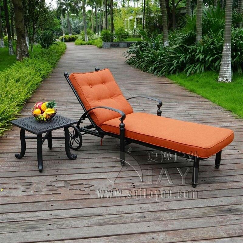 New design Cast-aluminum Luxury  sun lounger Outdoor furniture for garden customize model luxury aluminum watch