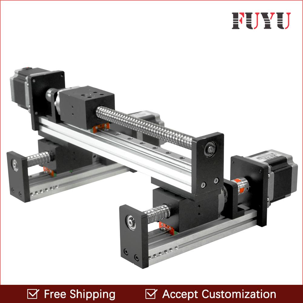 FLS40 Ball screw linear rail guide slide module table actuator for cnc XY motion robotic arm parts motorized router kits belt driven long travel linear slide linear motion ball slide unit guide linear actuator for massage chair