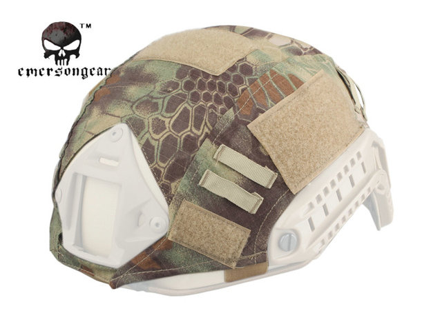 5bac694a66d Funda para casco rápido Emersongear PJ Airsoft casco militar táctico Camo accesorios  para caza EM8825F Mandrake