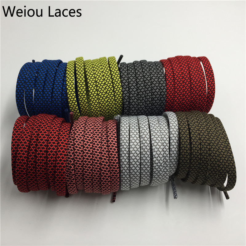 (30Pairs/Lot)Weiou Wide Hollow Custom Flat Shoelace Cool Athletic Shoe Laces Classic Unisex Bootlaces Platube Laces Wholesales on sales 20 pairs lot sneaker shoelace bright colors custom logo shoelace charms