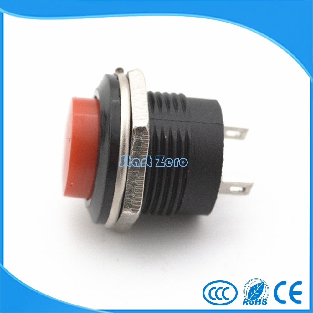 2pcs//5pcs Push Button Switch Square Neon light DC12V 24V Momentary Latching 16mm