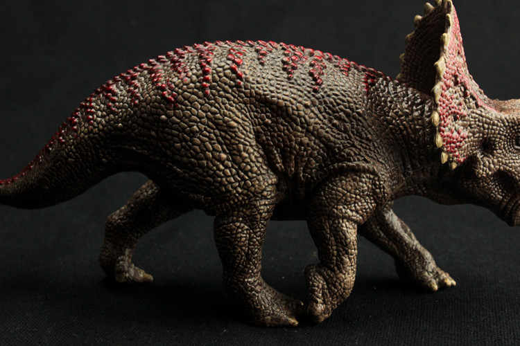 Con Số khủng long Triceratops Mô Hình Bàn Tay Painted Soft PVC Bộ Sưu Tập Động Vật Mô Hình Đồ Chơi Hành Động Số Liệu cho Trẻ Em Quà Tặng Sinh Nhật
