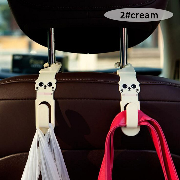 Automobile Universal Car Hooks Creative For Clothes Grocery Bags Convenient Headrest Chair Seat Back Rear Storage Holder Rack Auto Fastener & Clip