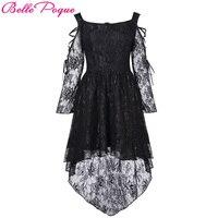 Belle Poque Women Summer Autumn Dress Retro Vintage Victorian Gothic Punk Dress Long Sleeve Casual High