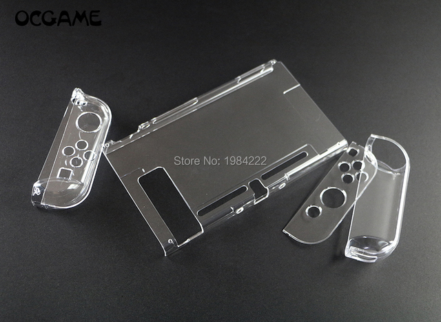 OCGAME Crystal Transparent Clear Protective Hard Case Cover Skin Shell for Nintend Nintendo Switch NS NX Joy con Console
