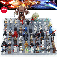 Star Wars Figures Building Blocks Kompatibel med Legoingly Jedi Chewbacca Han Solo Darth Vader Obi Wan Modeller Barn Leker