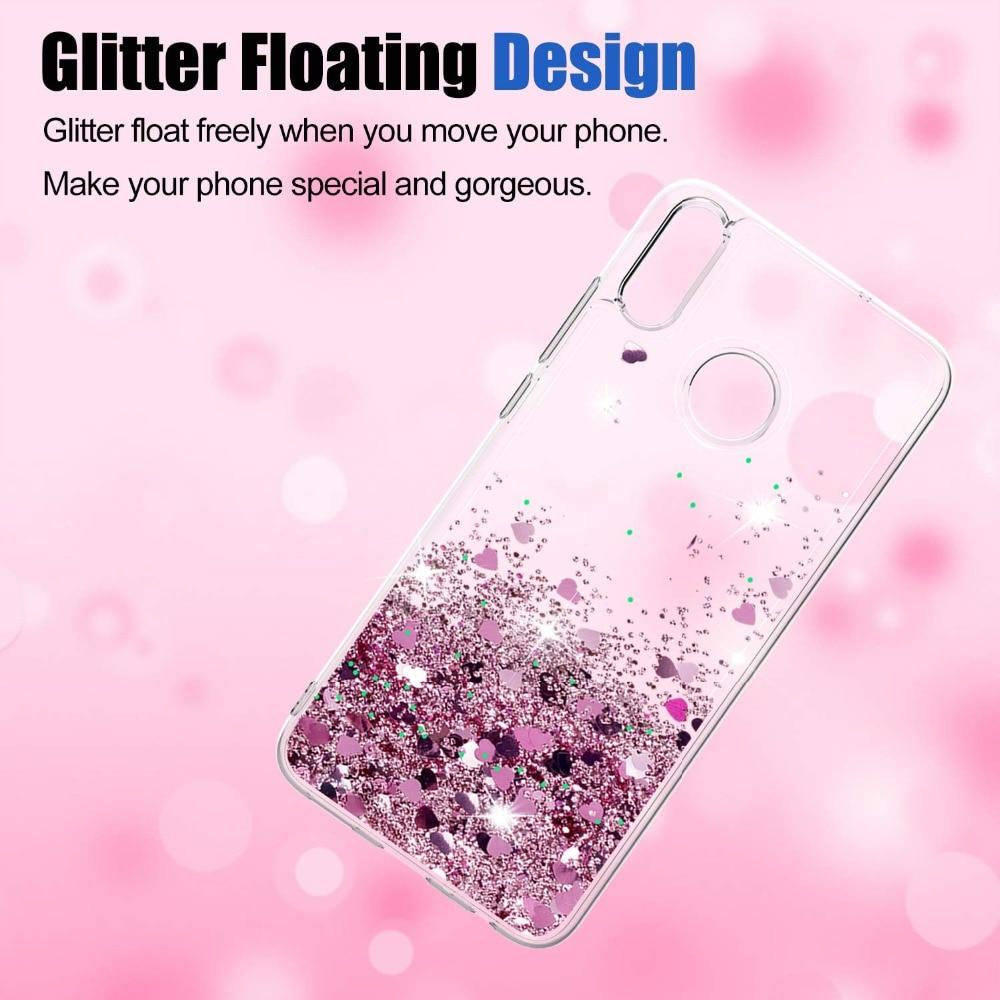 Honor 8X Lite Case Liquid Glitter Case For Huawei honor 8X Coque Huawei honor 8 X Dynamic Quicksand Star TPU Slicone Cover