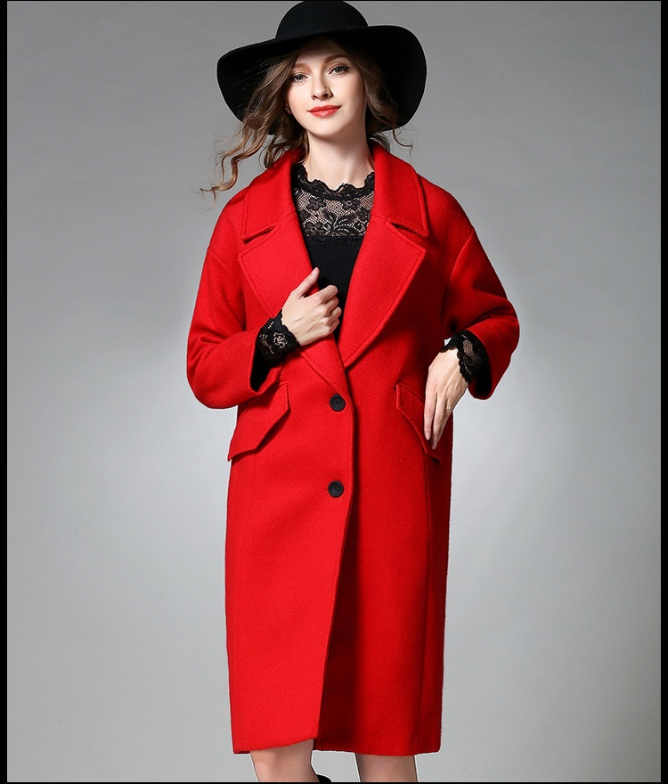 Red Wool Pea Coat qYG8vn