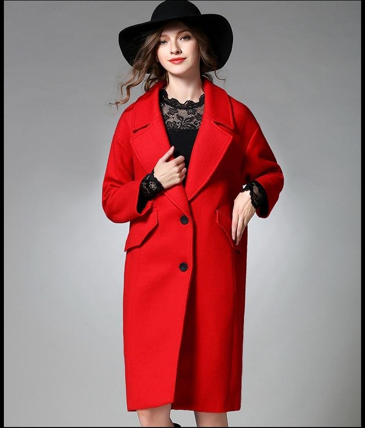 Ladies Red Pea Coat - Coat Nj