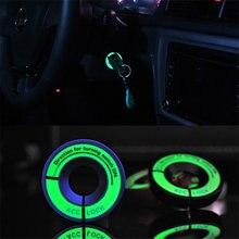 Porte-clés autocollant décoratif, interrupteur d'allumage lumineux, pour skoda Octavia Fabia, vw passat Bora POLO GOLF Jetta MK5 MK6