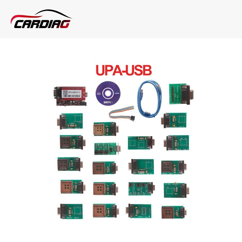 Цена за 2017 высокое качество UPA-USB upausb УПА USB программатор с полным Адаптеры V1.3 ЭКЮ Чип Tunning OBD2 инструмент диагностики Бесплатная доставка
