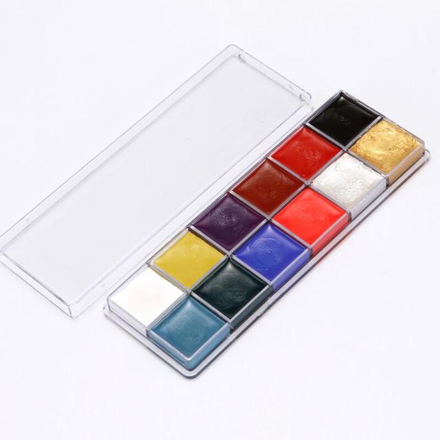 12 Colors Face Body Art Painting Body Paint Oil Painting Tattoo Makeup Cosmetic Bodypainting Halloween Party 4