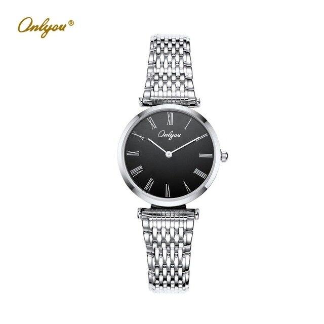 8d7876976cef Elegant Ladies Dress Watches Quartz-Analog Movement Silver Gold Stainless  Steel Strap Wrist Watches For