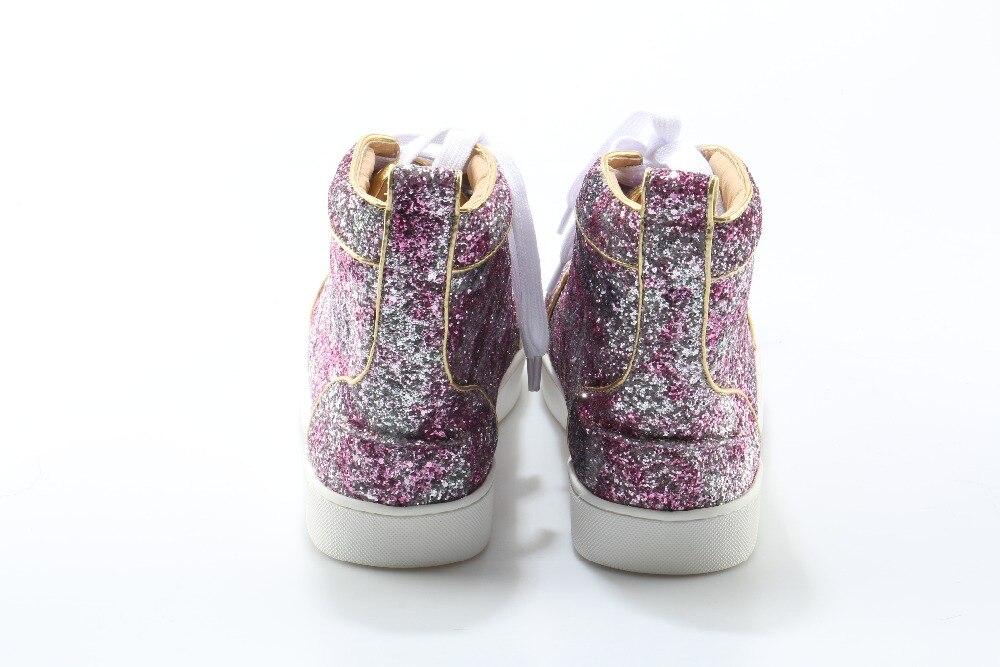 Eunice Lentejuelas As Botines Bling De Amantes Hombres Colores Picture Choo Plata Botas Unisex Superior Mezcla Zapatos Luz Cuero Alta Color qUgrYISq