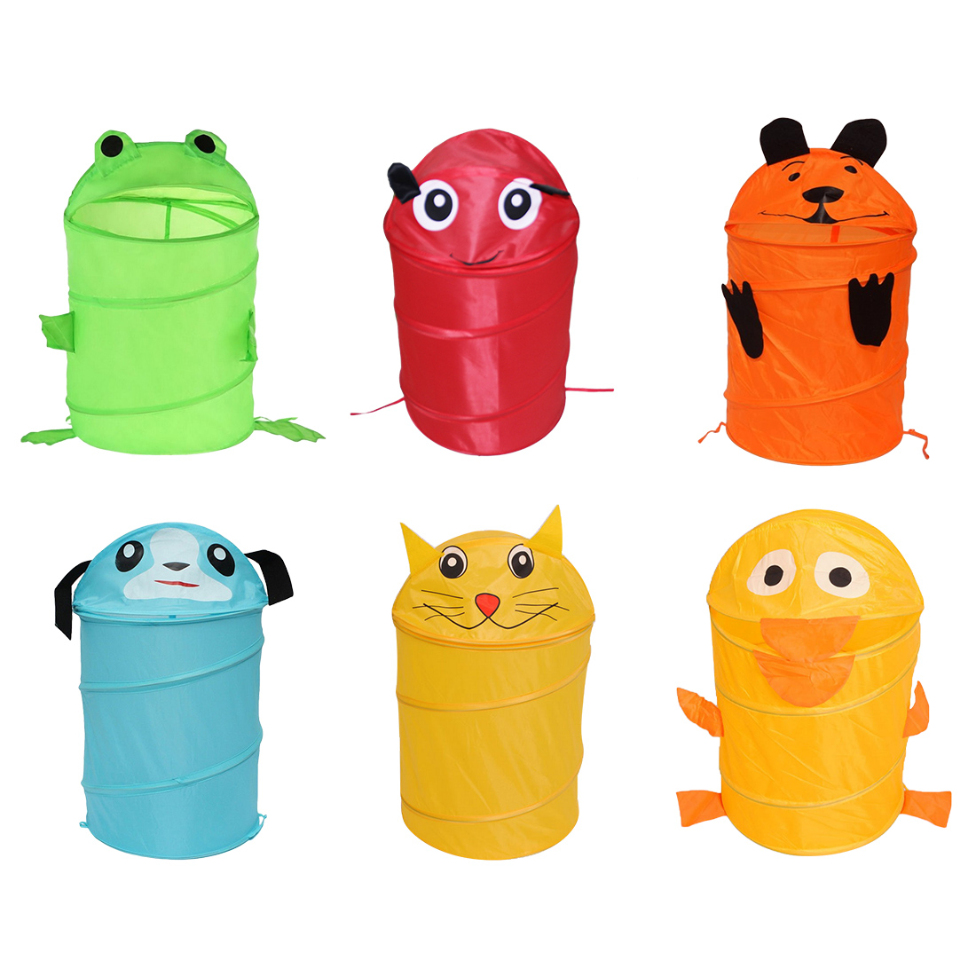 6 Style Cute Animal Big Capacity Waterproof Storage Bucket Laundry Basket Folding Cylinder Toy  Dirty Clothes Box Organizer