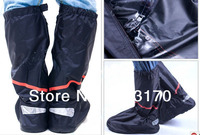 Free Shipping Oxford High Quality Reusable Waterproof Thicker Anti Slip Shoe Cover 1 Pair Lot