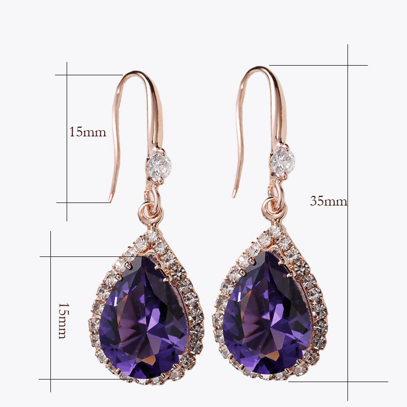Manxiuni AAA Κυβικά Ζιρκονία Drop - Κοσμήματα μόδας - Φωτογραφία 3