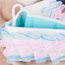 BF040 Bath Brush massage Cleaning Bath Exfoliating Loofah Back Strap Bath Soft Washing Bath Towel 66*9.5*5CM