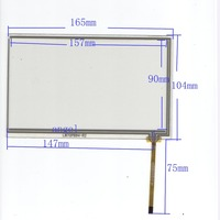 New 7 Inch 4Wire Resistive Touch Panel Digitizer Screen For Fly IQ300