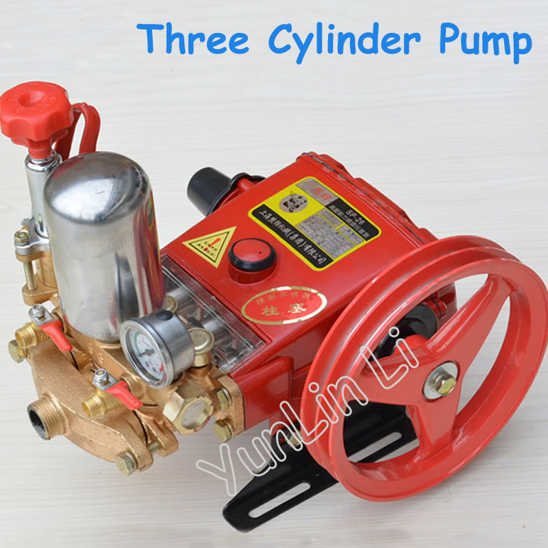 High Pressure Three Cylinders Pump Plunger Pump For Pesticide Spraying Machine Type 26 With English Manual high pressure quantitative axial plunger pump10mcy14 1b ram pump piston pump hydraulic oil pump
