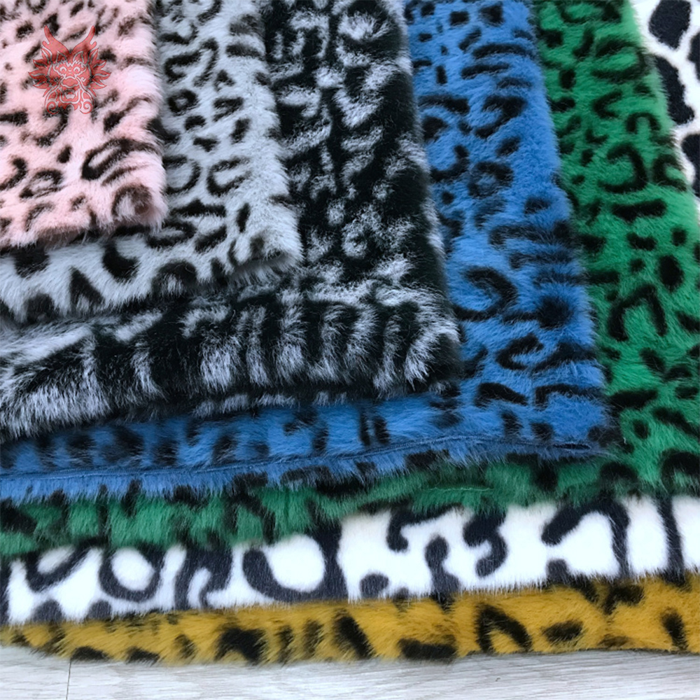 HILO BLACK PINK RED YELLOW GREY Super Luxury Faux Fur Fabric Material