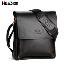 New 2016 Hot Selling High Quality Leather POLO Men Messenger Bags Crossbody Bags Men's Shoulder Bag