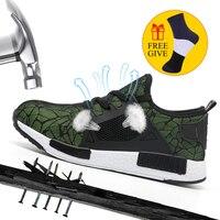 XZMDH Лидер продаж дропшиппинг мужские и женские защитные ботинки уличная дышащая мужская обувь противоскользящие проколы рабочие кроссовки
