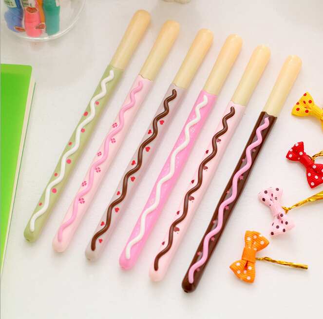 Sweet Biscuit Stick Shape Gel Ink Pen Marker Escolar Papeparia School Office Supply Student Prize Gift Stationery K7582 pen o henry prize stories 2009