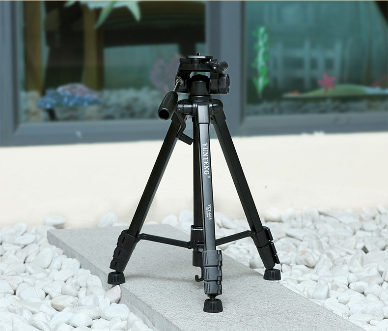 New YUNTENG VCT-668 668 Professional Photography Camera Pro Tripod with Damping Head Fluid Pan For Canon Nikon Sony DSLR Camera
