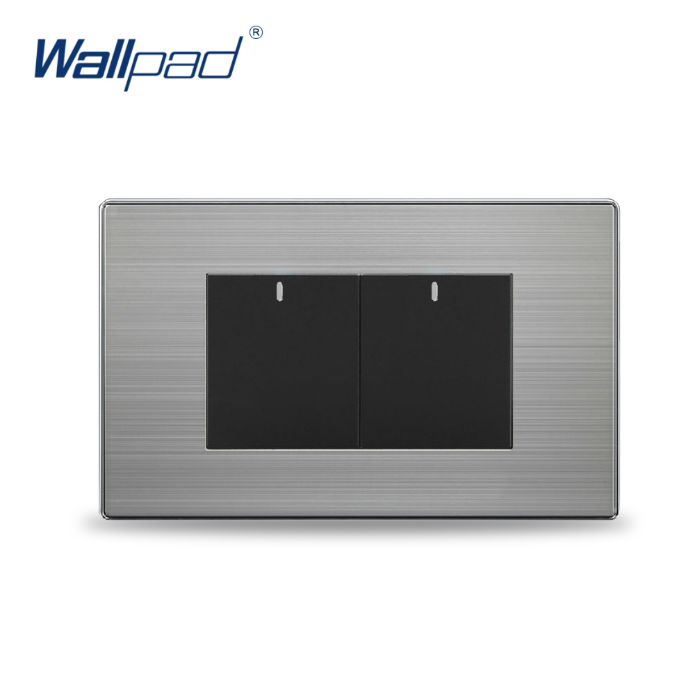 2 Gang Intermediate Switch Hot Sale China Manufacturer Wallpad Push Button One-Side Click Luxury Wall Light double computer socket free shipping hot sale china manufacturer wallpad push button luxury arylic mirror panel wall