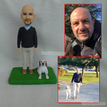 personalized custom bobblehead figurines of people dog cat figurine for valentine gift yoga customized design
