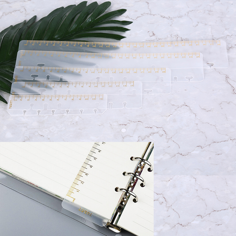 Ruler A5 A6 A7 Frosted Planner Agenda Dokibook For 6 Holes Loose Leaf Spiral Notebook Organizer  Sketchbook Bullet Accessories
