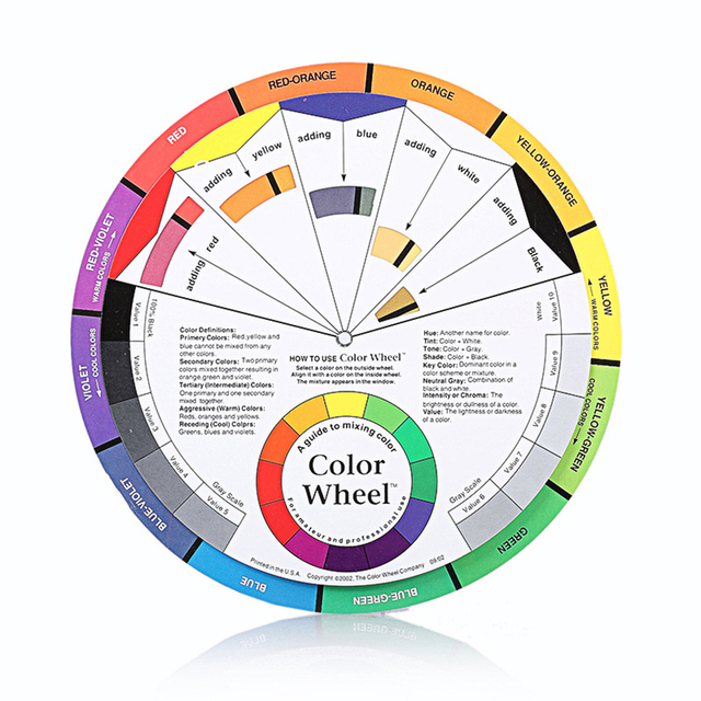 Tattoo Ink Chart Coloring Wheel Mixing Round Pigment Guide Permanent
