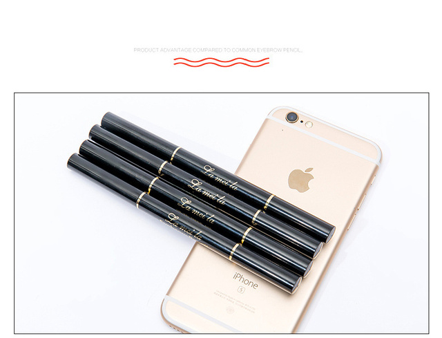 Professional Double-end Eyebrow Pencil Makeup Waterproof Eyebrow Black Brown Natural Eyebrow Pen with Brush Make Up Cosmetics 2