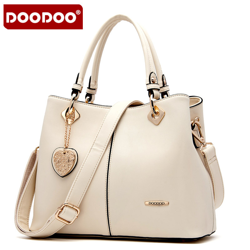 ФОТО DOODOO Famous Brand Women Genuine Leather Handbags Shoulder Women leather handbags bolsa feminina Designer Handbags High Quality