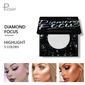 PUDAIER 5 Colors Diamond Focus Highlighter Palette Rihanna Glitter Potato Mud Shining Powder Soft Fairy Face Bronzer Makeup(China)